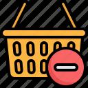 remove, basket, ecommerce, commerce, online, shopping
