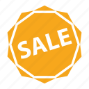 discount, hot, sale, sticker, tag icon