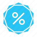discount, percent, promotion, sale, shopping icon