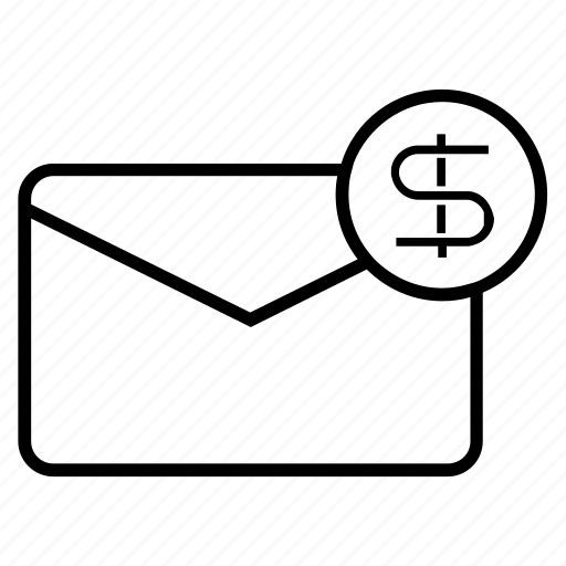 business, ecommerce, finance, mail, message, money, payment icon