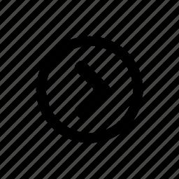 arrow, move, navigate, next, right icon