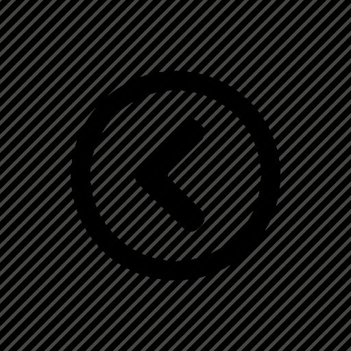 arrow, back, left, navigate, prev, previous icon