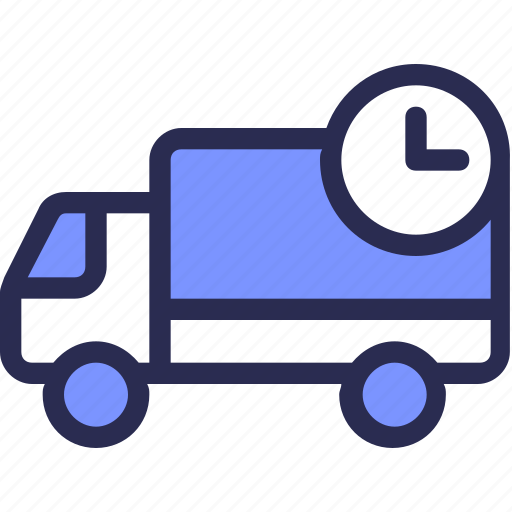 Commerce, car, send, delivery, logistic, time icon