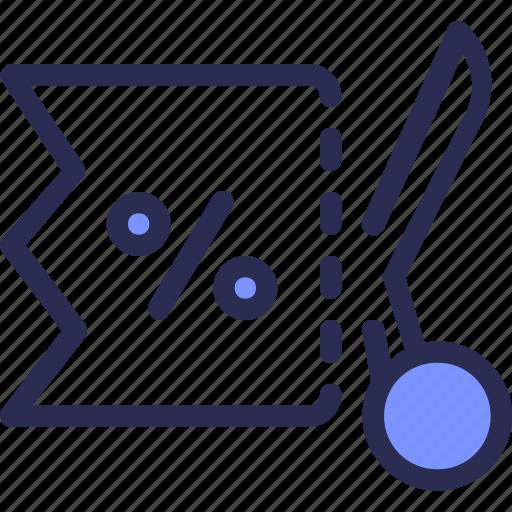commerce, coupon, cut, discount, ticket, voucher icon