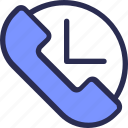 call, commerce, customer, phone, service, time icon
