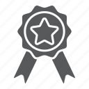 award, badge, best, emblem, label, quality, ribbon icon