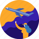 airplane, cargo, shipping, transport, transportation, vehicle icon
