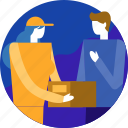 box, cargo, customer, delivery, package, parcel, shipping icon