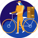 bicycle, bike, cargo, delivery, package, transport, transportation icon