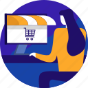 computer, ecommerce, internet, online, shopping, store, website icon