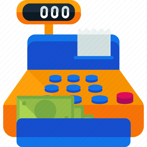 cash, ecommerce, finance, payment, register, shop, shopping icon