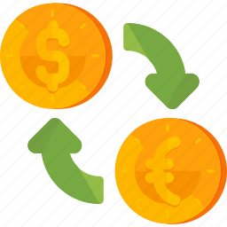 currency, exchange, finance icon