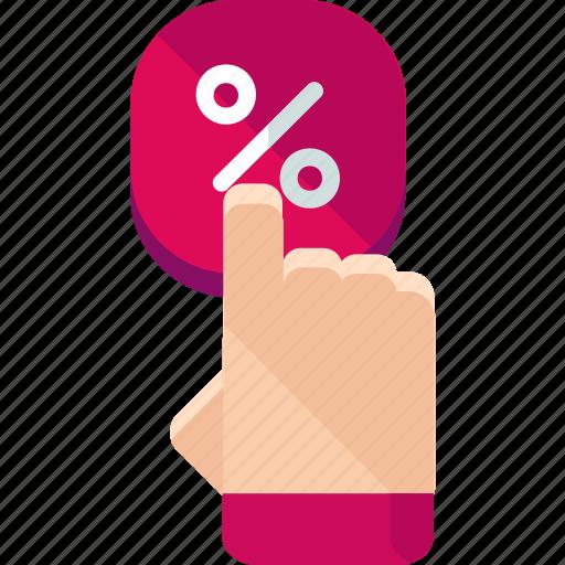 discount, percentage, sale icon