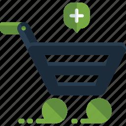 add, buy, cart, commerce, ecommerce, plus, shopping icon