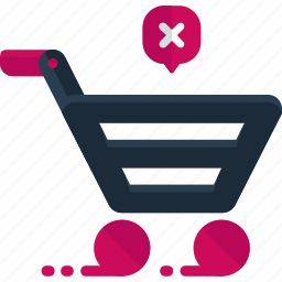 buy, cart, commerce, delete, online, remove, shopping icon