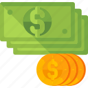 cash, currency, dollar, finance, money, payment, shopping icon