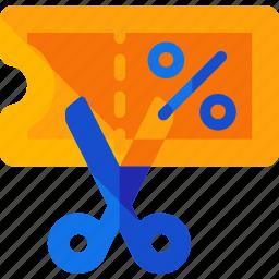 coupon, scissor icon