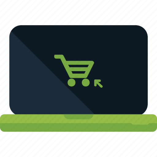 cart, ecommerce, laptop, online, shop, shopping, store icon