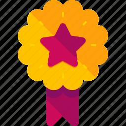 achievement, award, ecommerce, medal, prize, reward, star icon