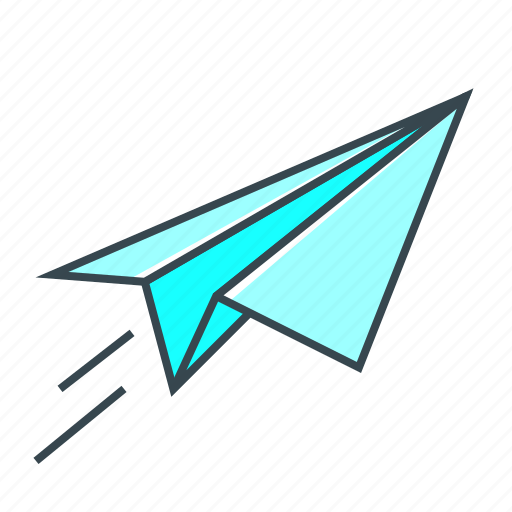 airplane, flight, fly, launch, paper plane icon