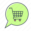 cart, comment, e-commerce, ecommerce, leave a comment, online, shopping icon