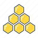 commerce, hierarchy, honey, honeycombs, network marketing, structure icon