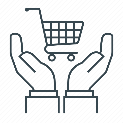 cart, consumer protection, e-commerce, ecommerce, hands, trolley icon