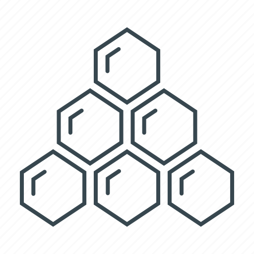 hierarchy, honey, honeycombs, organization, structure icon
