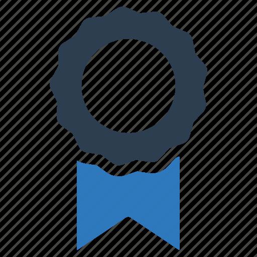 achievement, award, badge, ribbon icon
