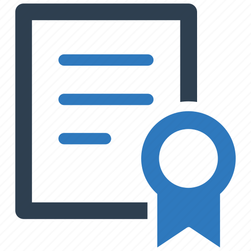 certificate, contract, deal, license icon