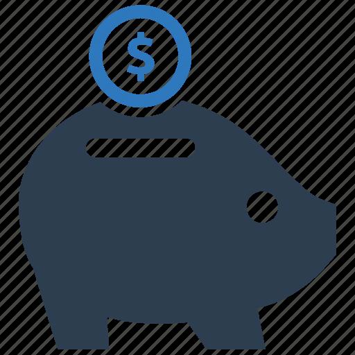 deposit, investment, piggy bank, savings icon