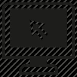 arrow, click, computer, cursor icon
