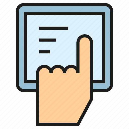 click, hand, tablet, touch icon