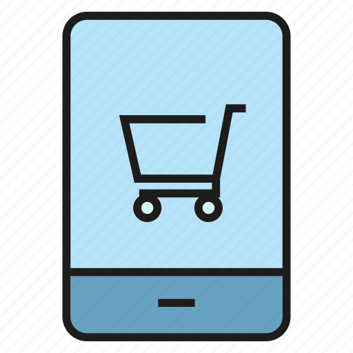 buy, cart, gadget, mobile, shop, shopping cart icon