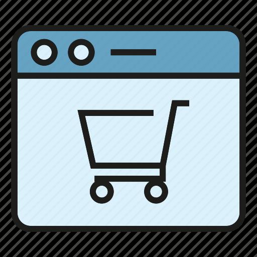 buy, cart, e commerce, online, sale, shop, web icon
