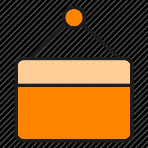 hanging, open, signage icon