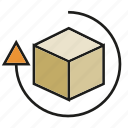 arrow, box, recycle, reuse icon