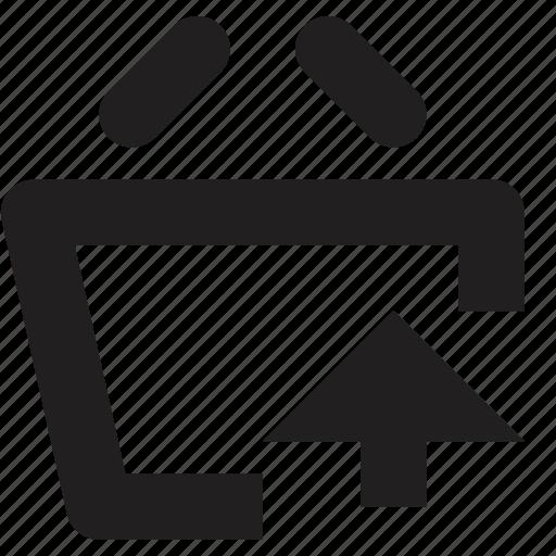 baske, ecommerce, upload icon