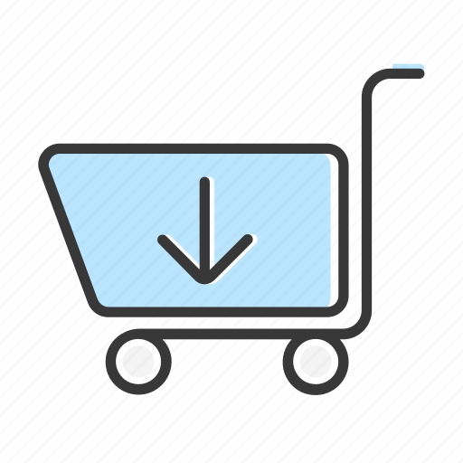 arrow, buy, cart, download, ecommerce, online, shopping icon