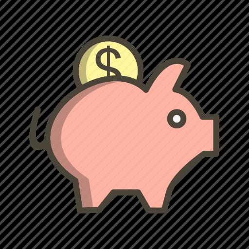 banking, money, piggy bank, savings icon