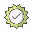 bagde, tick, valid, valid stamp icon