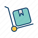 breifcase, retail, shop, trolley icon