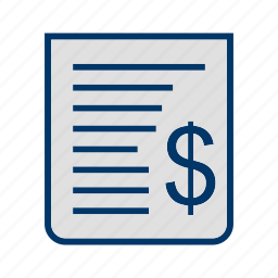 account, bank, bill, billing, paper, receipt, tax icon