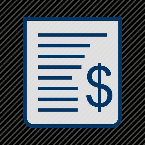 Bill, receipt, cash receipt icon - Download on Iconfinder