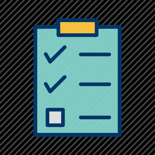 check list, checklist, clip board, list icon