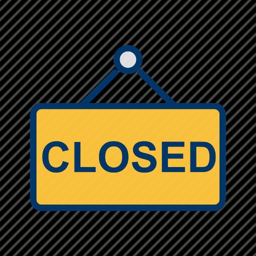 closed board, closed sign, sign, sign board icon