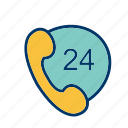 customer services, phone services, support icon