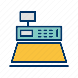 business, buy, cash, counter, display, retail icon