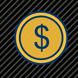 cash, coin, dollar, money icon