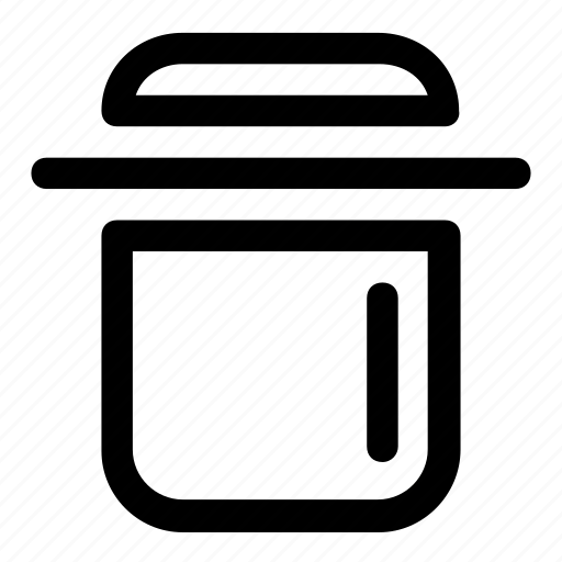 bin, delete, remove, trash, trash can icon